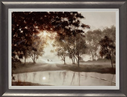 Taking Some Time For Us by John Waterhouse - Framed Limited Edition on Paper